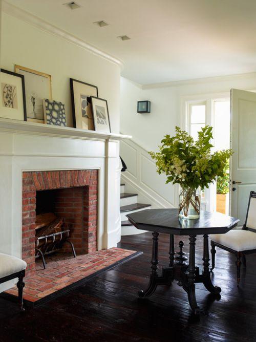典雅欧式风格客厅温暖壁炉装修实景图