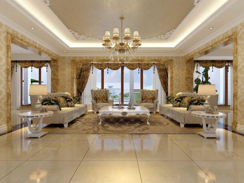 欧式风格别墅客厅装修图片
