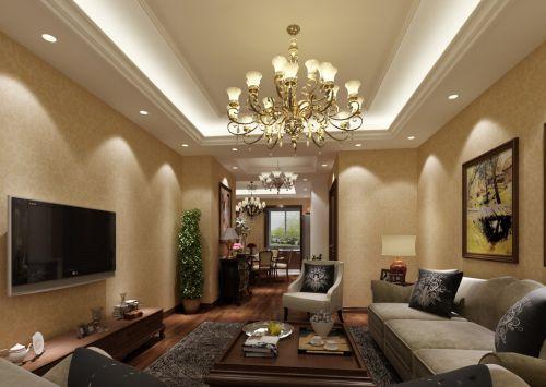 大气三居欧式客厅样板间设计图