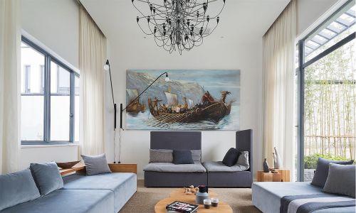 宽敞的欧式风格客厅装修效果图沙发背景墙设计