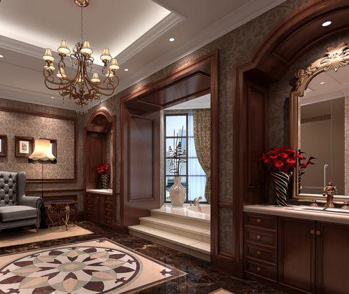 典雅奢华欧式风格装修客厅楼梯设计