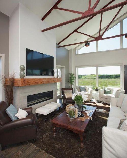 咖啡色木质客厅茶几欧式风格装修实景图