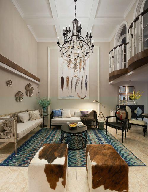 气质欧式风格奢华别墅客厅装修设计