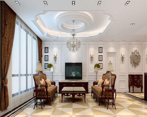 欧式新古典复式客厅装修图片