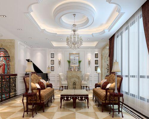 欧式新古典复式客厅装修图片欣赏