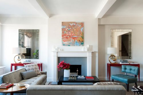 欧式风格精致客厅壁炉装修设计图