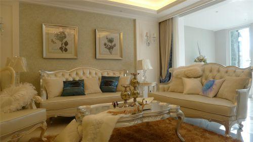 新古典欧式三居室客厅装修效果图