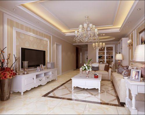 现代欧式三居室客厅榻榻米装修效果图欣赏