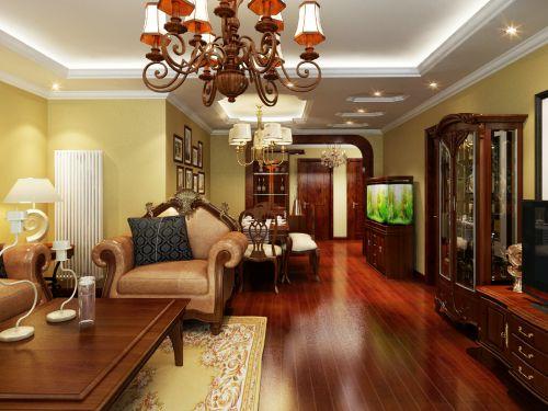 古典欧式三居室客厅装修图片欣赏