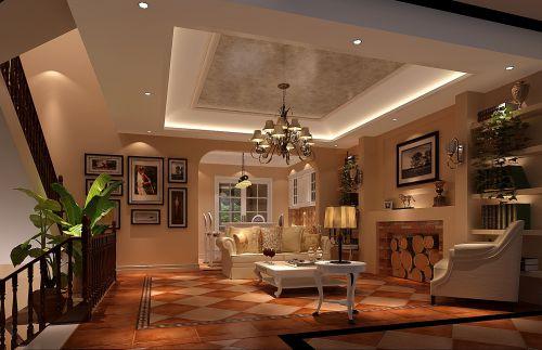 欧式风格五居室客厅装修效果图