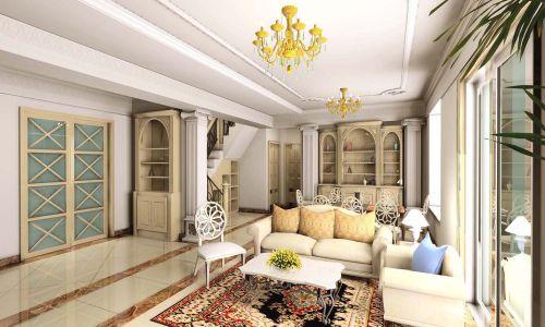 四居室欧式设计明艳客厅吊灯效果图