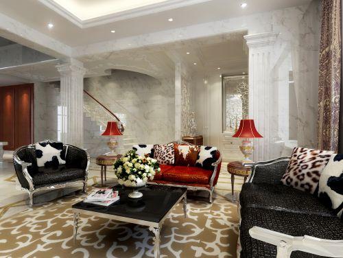 欧式新奢华别墅客厅背景墙装修效果图大全