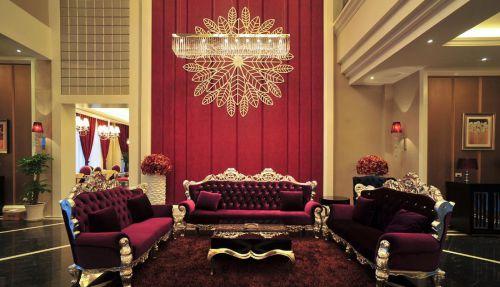 华丽欧式大户型客厅装修效果图