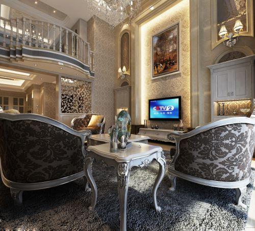 欧式风格别墅客厅装修效果图欣赏