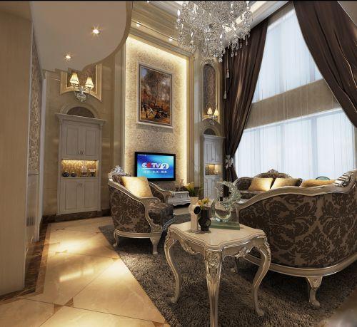 欧式风格别墅客厅装修效果图大全