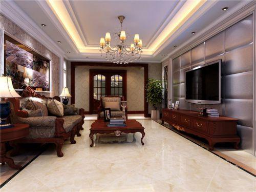 欧式古典三居室客厅装修图片欣赏