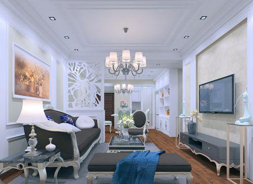 三居室欧式客厅装修效果图明亮舒适