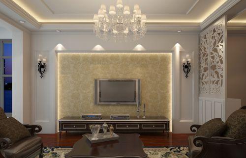 简单三居室装修欧式风格客厅设计效果图