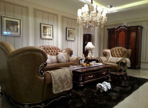 二居室欧式精美黄色客厅灯具效果图