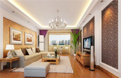 欧式风格二居室客厅装修图片欣赏
