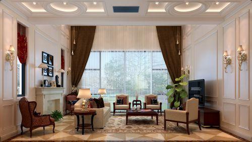 欧式新古典三居室客厅装修图片欣赏