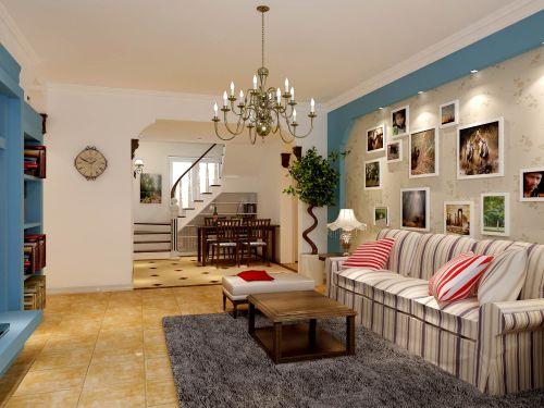 欧式田园四居室客厅装修图片欣赏