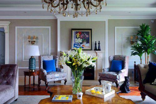 简约欧式三居室客厅沙发装修效果图欣赏