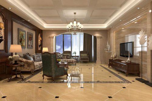 欧式风格五居室客厅沙发装修效果图欣赏