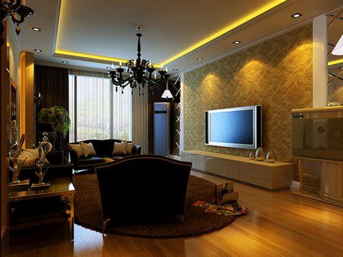 欧式古典三居室客厅飘窗装修图片
