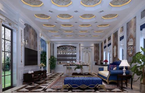 欧式新古典五居室客厅装修效果图