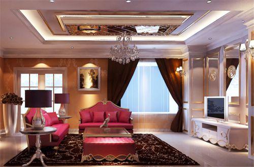 古典欧式四居室客厅装修效果图大全