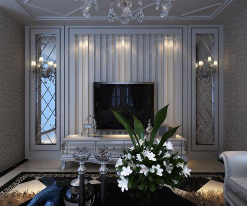 欧式风格时尚客厅装修电视背景墙装修效果图
