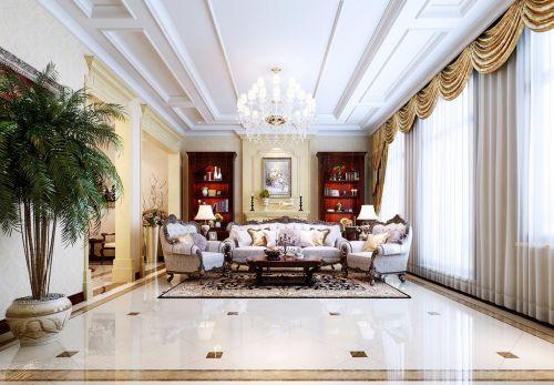 欧式古典五居室客厅装修图片