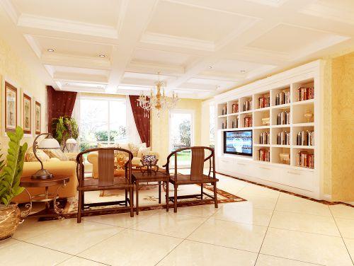 欧式三居室客厅装修图片欣赏