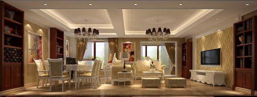 欧式风格四居室客厅吊顶装修效果图欣赏