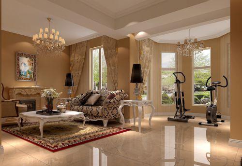 欧式风格二居室客厅装修图片