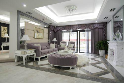 欧式风格四居室客厅装修图片