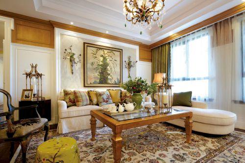 欧式风格大气客厅沙发装修实景图