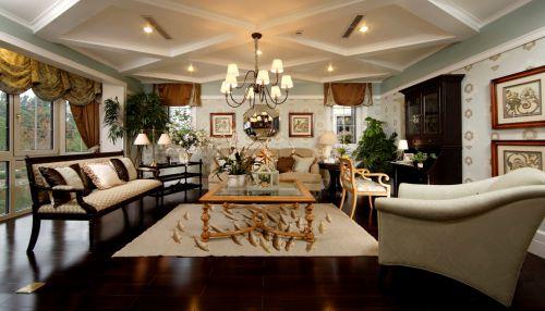 欧式田园其它客厅装修效果图大全