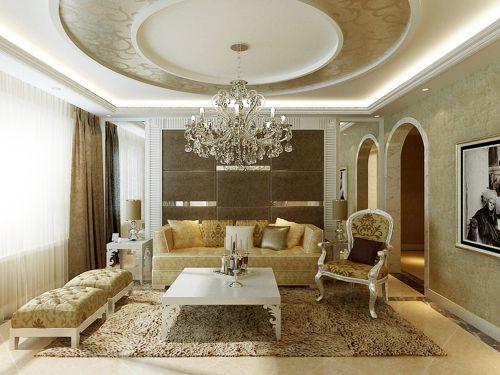 欧式奢华三居室客厅装修效果图大全