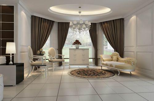 欧式奢华别墅客厅装修效果图欣赏