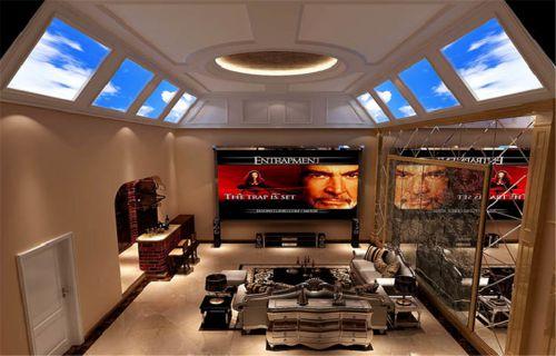 欧式风格五居室客厅吊顶装修效果图