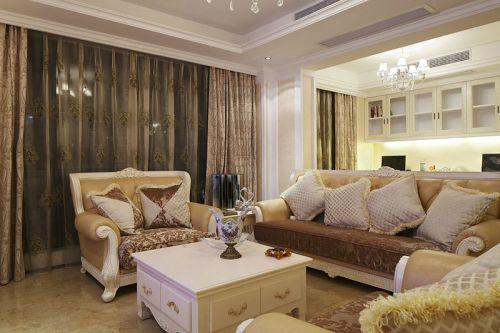欧式简约三居室客厅装修效果图