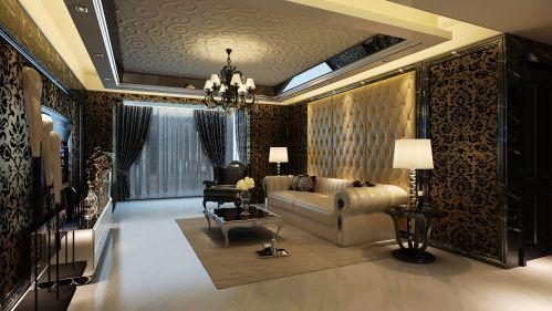 欧式时尚三居室客厅装修效果图