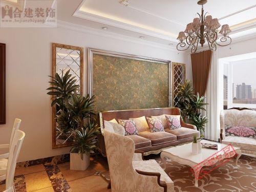 欧式二居室客厅窗帘装修效果图大全