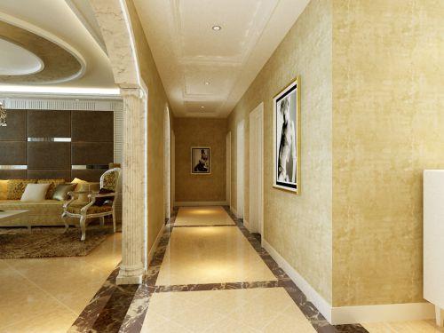 欧式风格三居室客厅走廊装修效果图欣赏