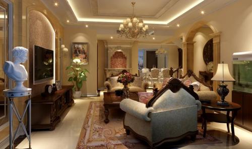 现代欧式复式客厅装修图片欣赏