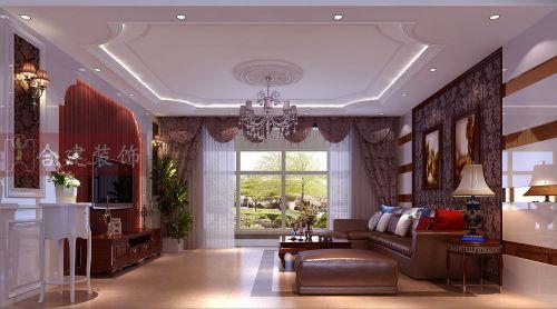 简约欧式三居室客厅装修图片欣赏