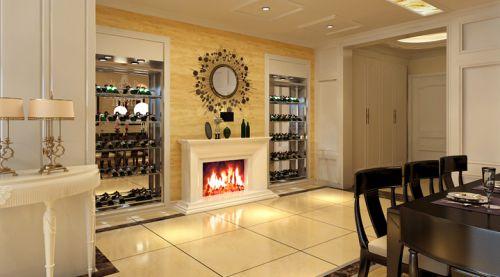 欧式风格三居室客厅背景墙装修效果图