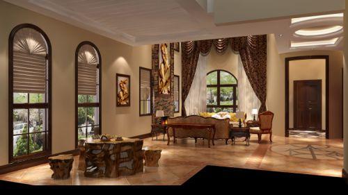 欧式托斯卡纳别墅客厅吊顶装修效果图大全
